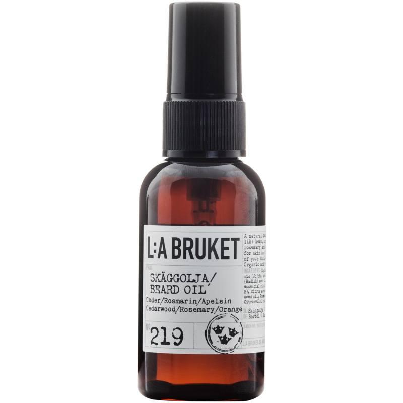 LA Bruket L:A Bruket 219 Beard Oil 60 ml - Cederwood/Rosemary/Orange
