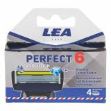 LEA Classic Lea Evolution 6, Cartridge Med 4 Barberblade (6+1 Klinge)