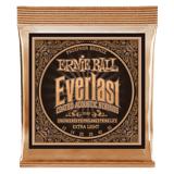 Ernie Ball Everlast Coated Phosphor Bronze Guitarstrenge, Akustisk Extra Light 010-050