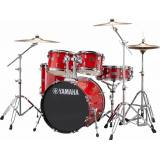 Yamaha Rydeen Studio Trommesæt - inkl. hardwarepakke og bækkener - Hot Red