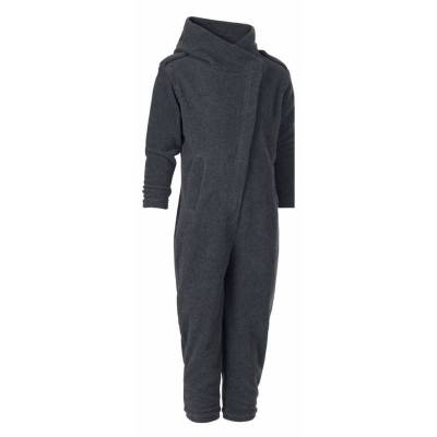 Karmameju Fleece Pantsuit Mini Makalu Grey 1-2 Yrs (U) - Børnetøj - Karmameju
