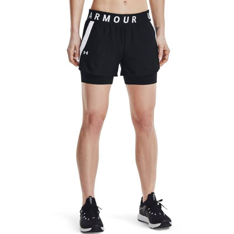 Under Armour Women's Play Up 2-in-1 Shorts Sort Sort L