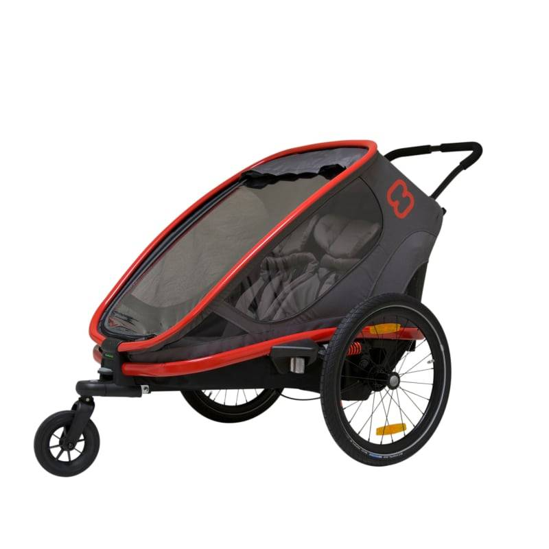 Hamax Outback Incl. Bicycle Arm & Stroller Rød Rød OneSize