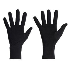 Icebreaker Unisex 260 Tech Glove Liners Sort Sort L