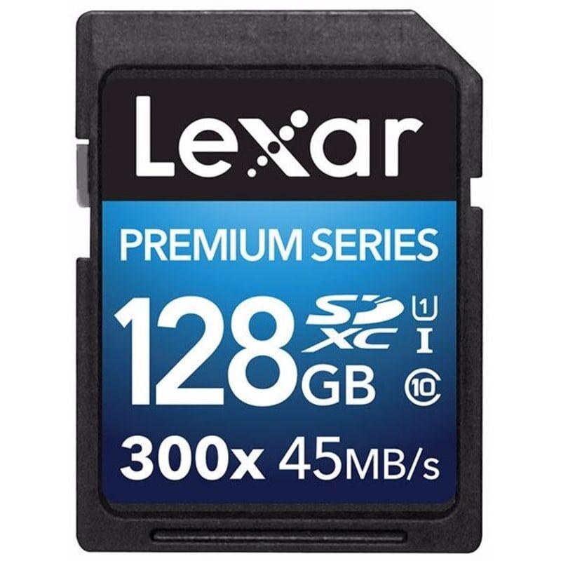 Lexar 128GB SDXC 300x Premium II C10 Sort Sort OneSize