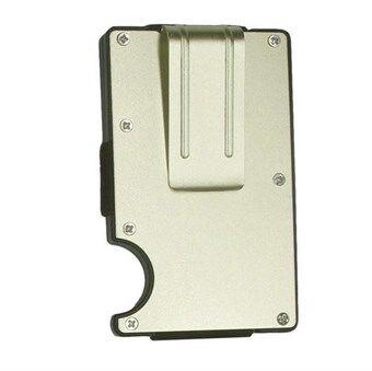 Metal RFID-sikret Kortholder til 6 kort - Guld