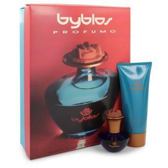 BYBLOS by Byblos - Gift Set -- 1.68 oz Eau De Parfum Spray + 6.75 Body Lotion - til kvinder