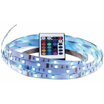 Farve LED-bånd med Fjernbetjening - 4 meter