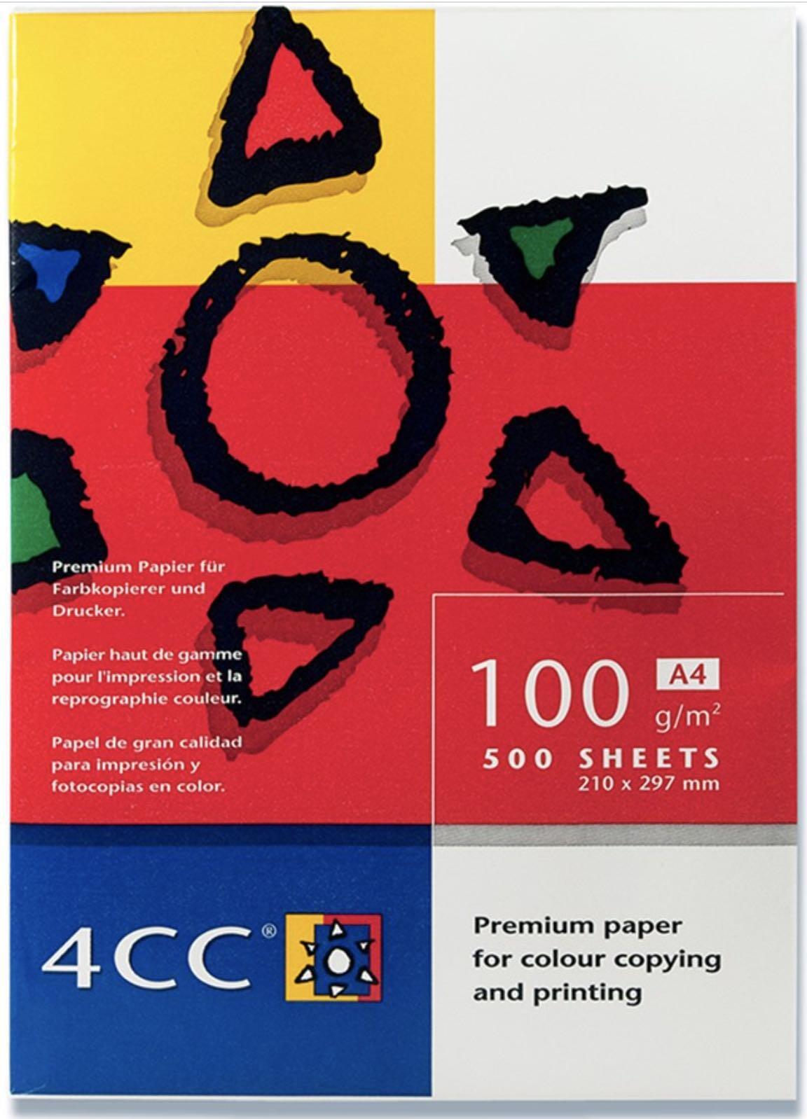 4cc A4 100g 500ark (1pk) Kopipapir