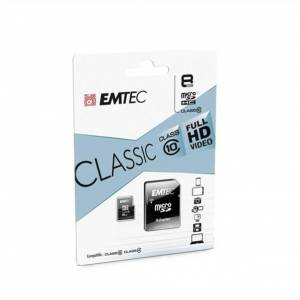 24hshop microSDHC 8GB EMTEC + adapter CL10 Classic blister