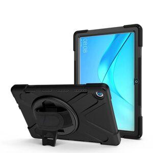 24hshop Silikonefoderal med stativ til Huawei MediaPad M5 10.8 Sort