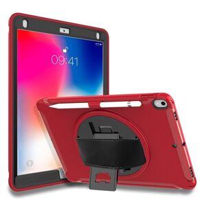 24hshop Roterbart beskyttende foderal til iPad Pro 10.5 inch Rød