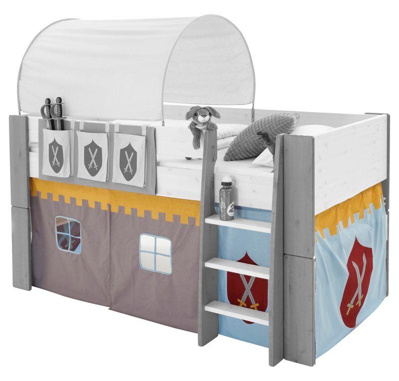Molly Kids forhæng ridder tema til halvhøj seng.