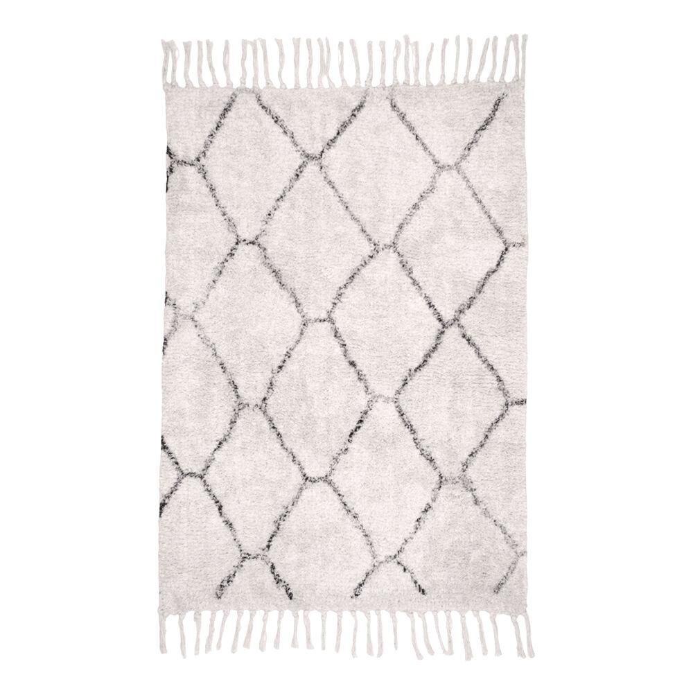 Gomea tæppe 90x60 cm natur med print.