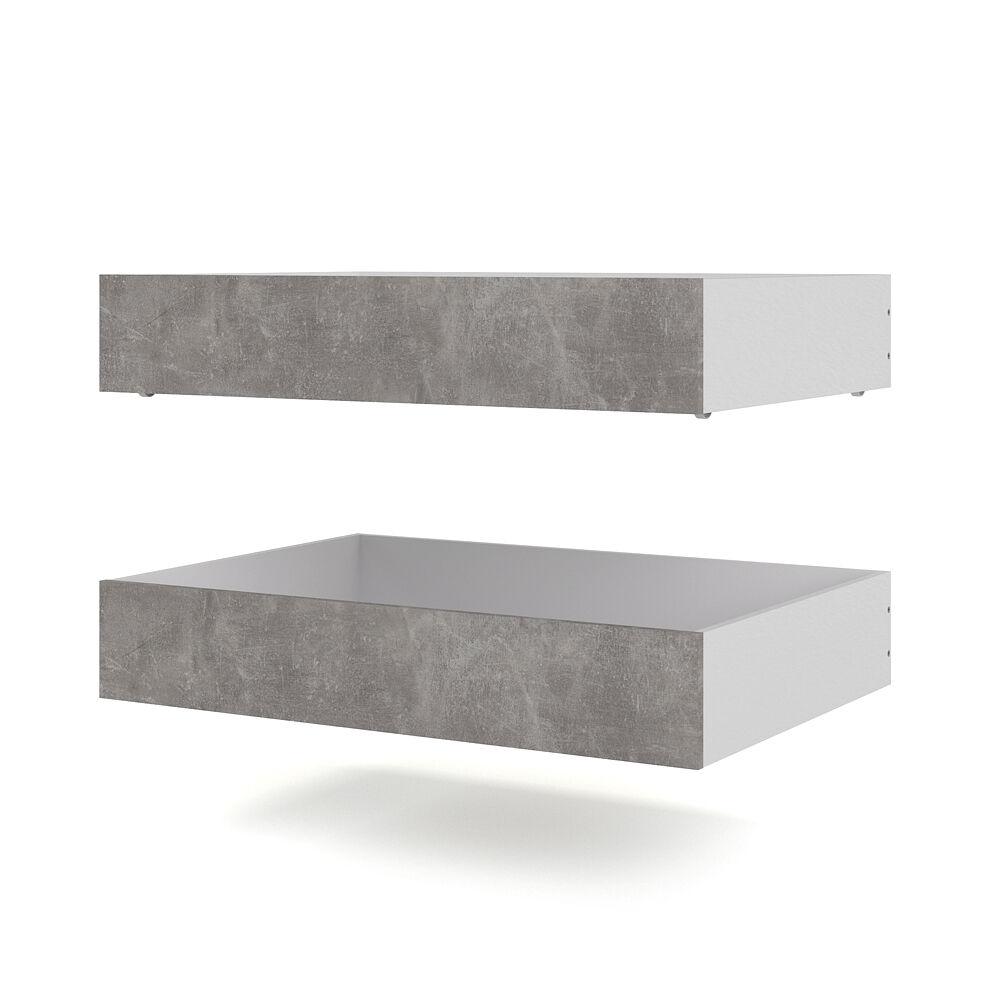 Nada seng 2 sengeskuffer bredde 94 cm beton dekor.