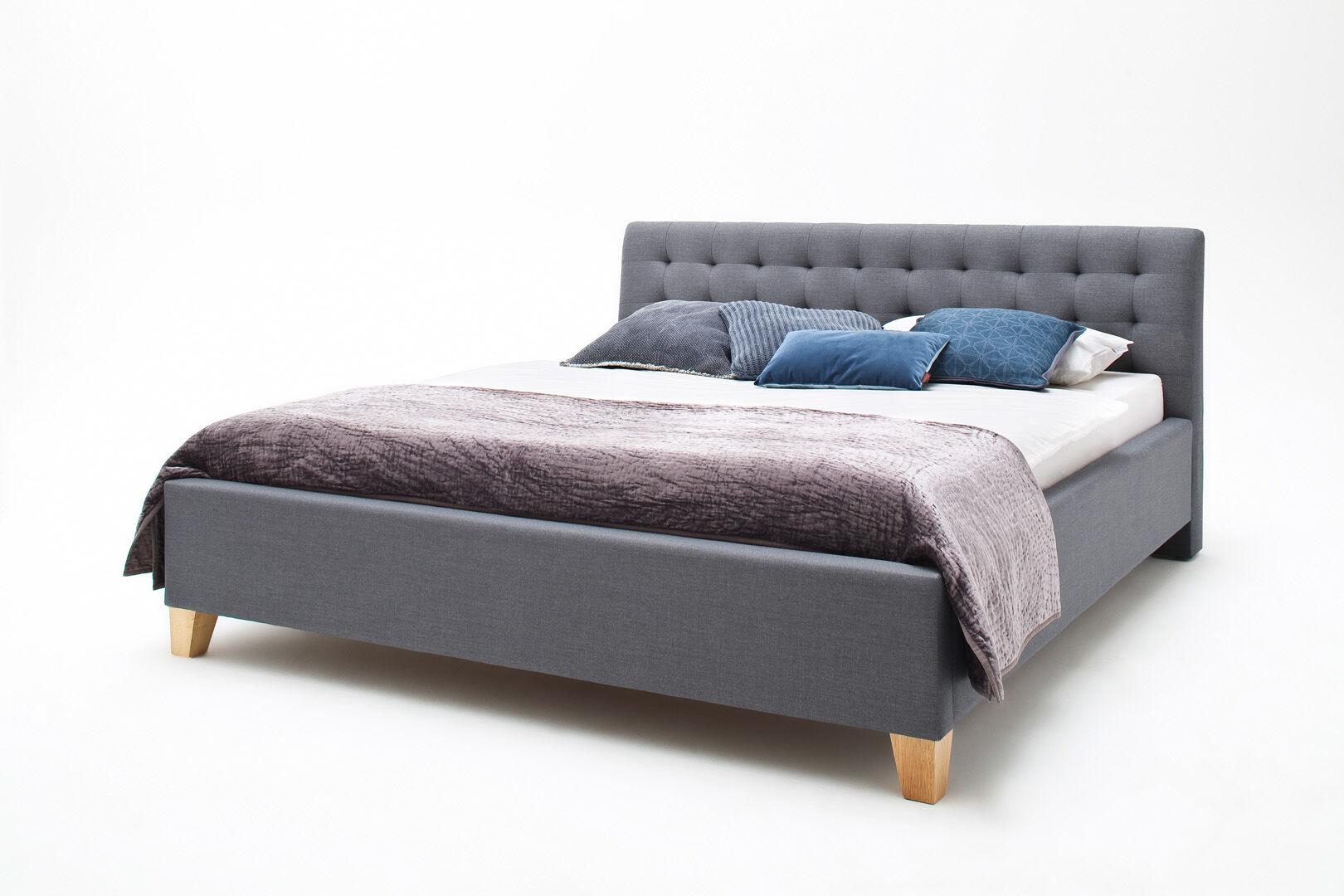 Lucca seng polstret 180x200 grå.