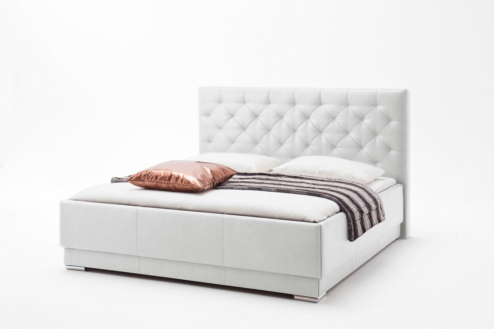 Pisa seng polstret 180x200 cm Hvid
