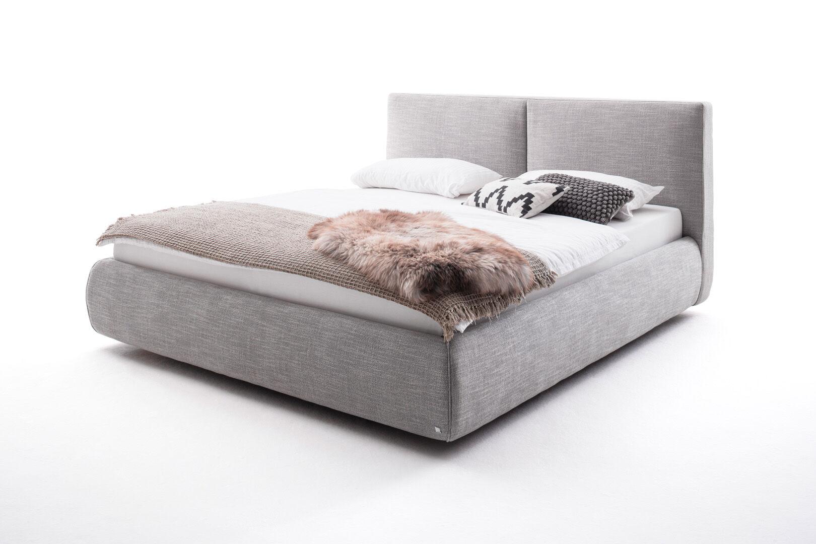 Atesio seng polstret inkl. madras Toscana 180 cm med opbevaring. Lysegrå 1 X Toscana H2 madras op til 80 kg. & 1 X Toscana H3 madras op til 120 kg.