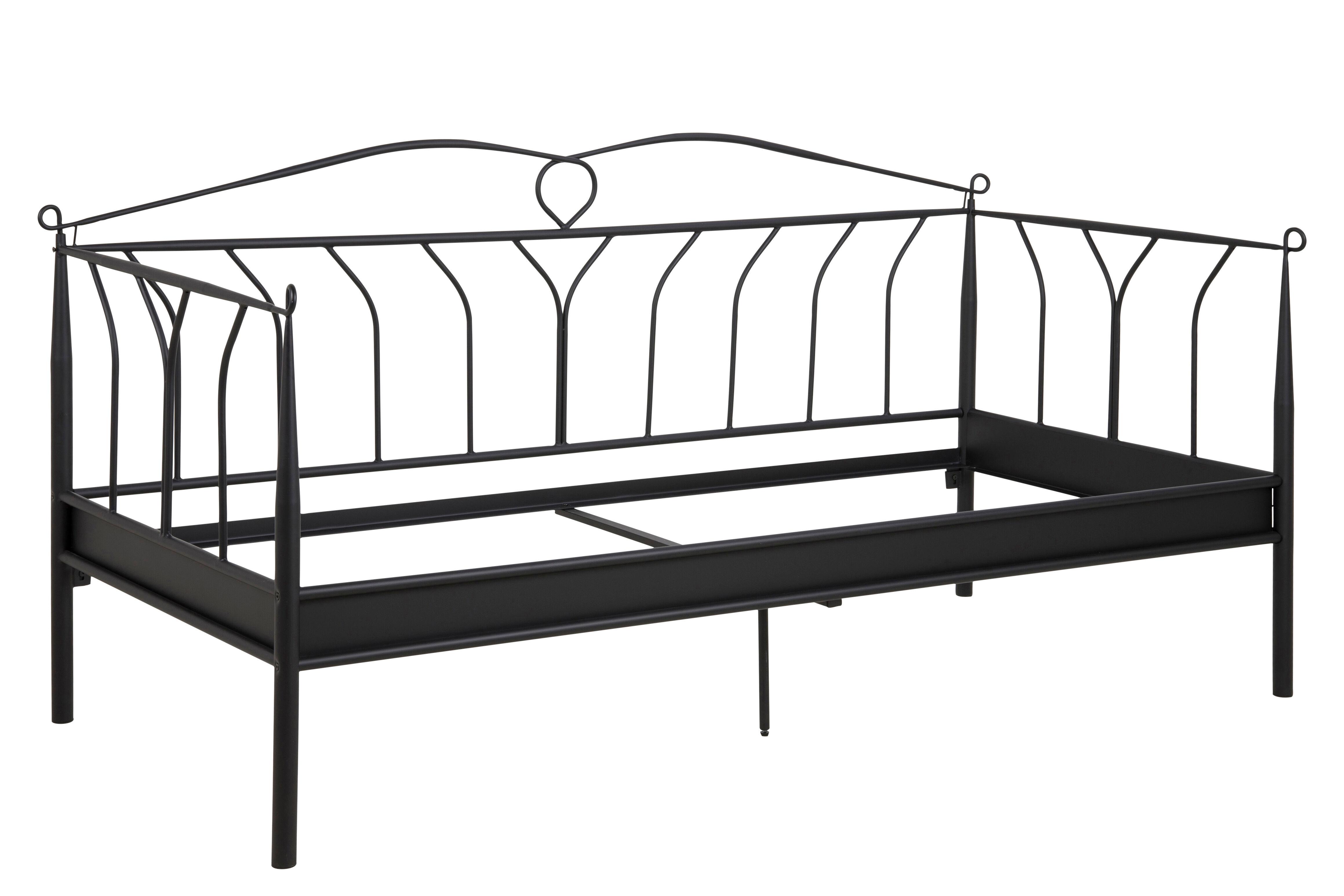 Linax seng 90x200 cm, sort.