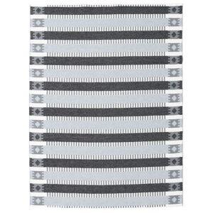 RugVista Tradition - Grå / Sort  tæppe 150x200 Moderne Tæppe