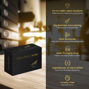 Eco Masters Gold Edition Eco Masters Exclusive Sæbe - 1 x 200g - Lysnende Ansigtsrens Til Pigmentforandringer - Dybderensende - Fugtgivende & Lindrende - Ingen Parabener