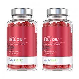 WeightWorld Antarctic Krill Oil - Naturligt og rent Omega-3 tilskud - 2 pakker