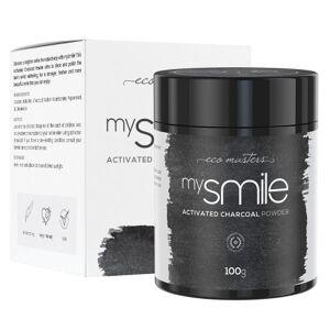 Eco Masters mysmile Tandblegning - Blegning Af Tænder - Hvide Tænder Med Kul - Tandblegning Aktivt Kul - Naturlig Tandblegning