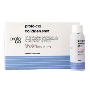 proto-col Collagen Shot - Flydende skønhedstilskud med 5000mg VERISOL® - 10 x 50 ml mørke bær smag