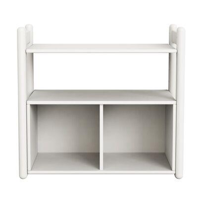FLEXA Shelfie Mini Reol m/bogkasse - Hvid - Babymøbler - Array