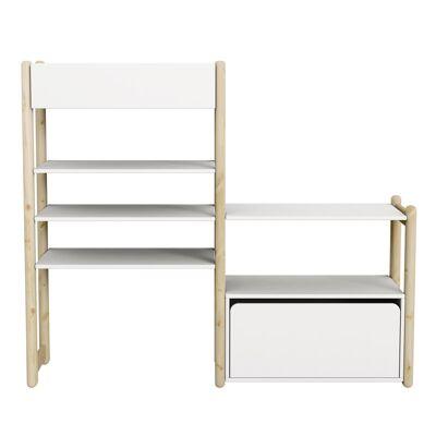 FLEXA Shelfie Combi 1 Reol - Hvid - Babymøbler - Array