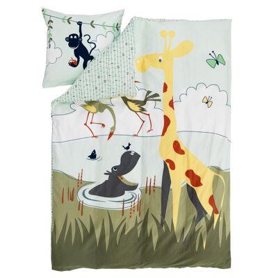 FLEXA Safari Sengetøj i bomuldssatin - Babymøbler - Array