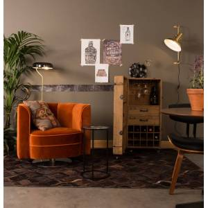 Dutchbone - Flower Loungestol - Orange