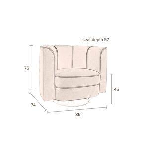 Dutchbone Flower Loungestol - Sort velour