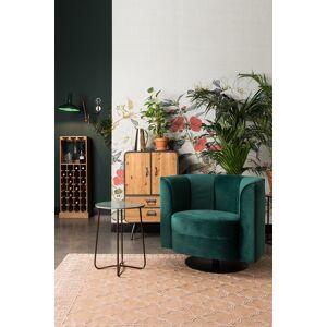 Dutchbone Flower Loungestol - Grøn velour