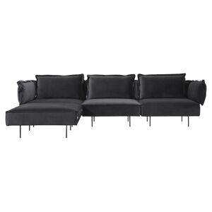HANDVÄRK The Modular Velour Sofa m. Chaiselong - grå