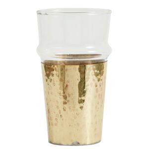 Nordal - Te- eller vandglas m. gylden metal - 6 stk