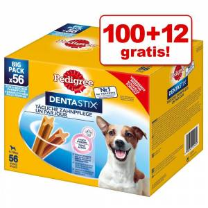 Pedigree 12g 100 + ratis 112 stk. DentaStix 56 Dentastix & 56 Dentastix Fresh Medium Pedigree hundegodbidder