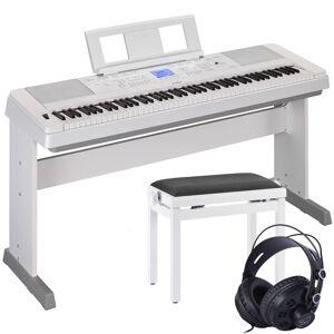 Yamaha Dgx-660 Portable Grand Hvid + Bænk Og Hovedtelefon