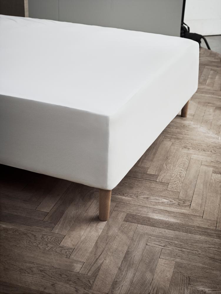 JUNA Jersy stræklagen hvid 160 x 200 x 45 cm.