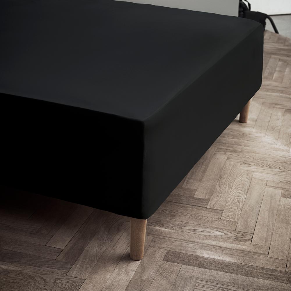 JUNA Jersy stræklagen sort 90 x 200 x 45 cm.