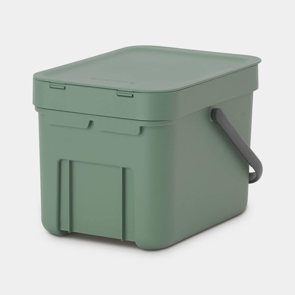 Brabantia Affaldsspand M. Låg - 6 Liter Grøn/sort