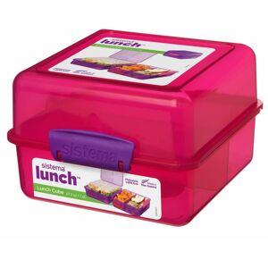 Sistema Lunch cube madkasse pink/lilla