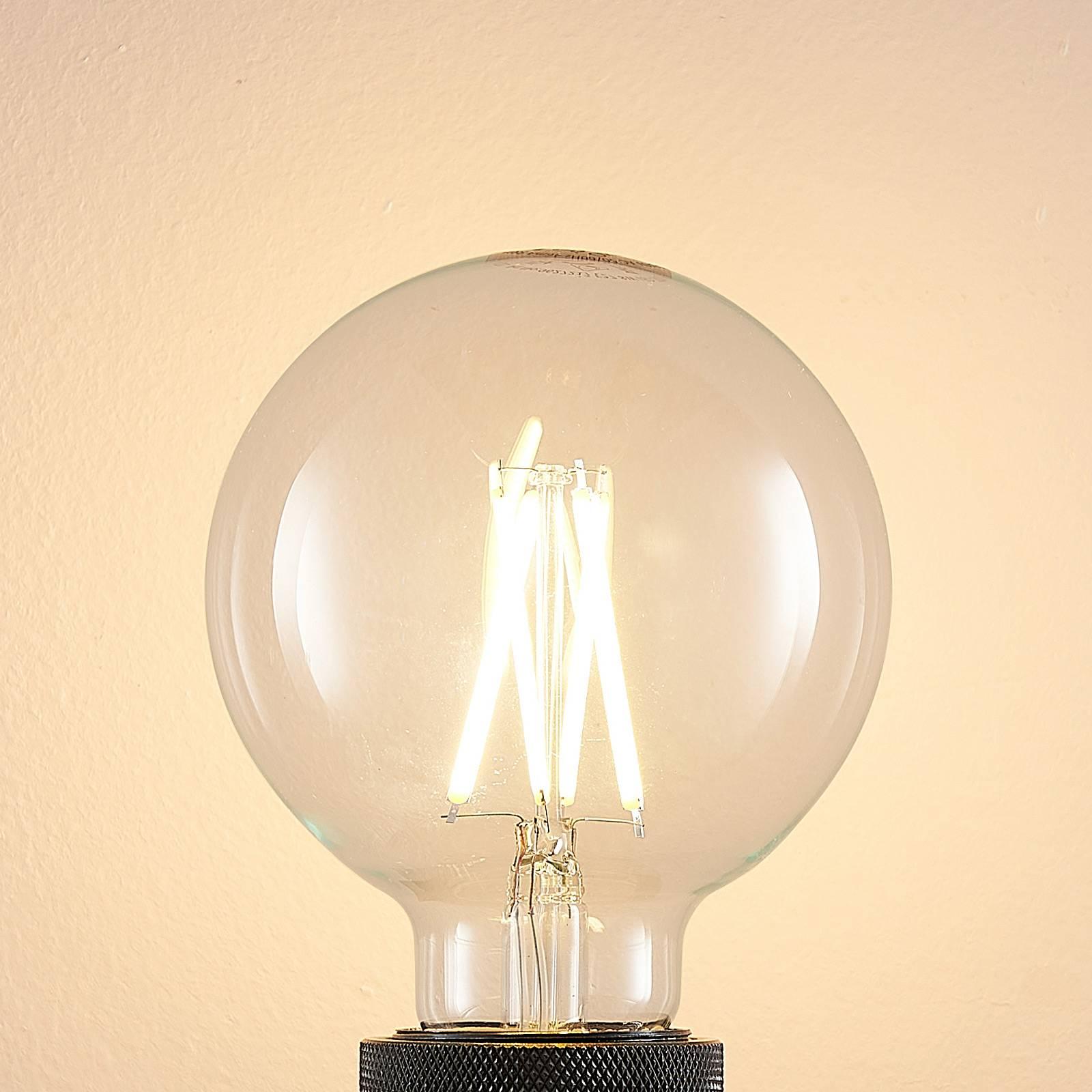 Arcchio E27 8 W 2.700 K G95 globe, filament, klar