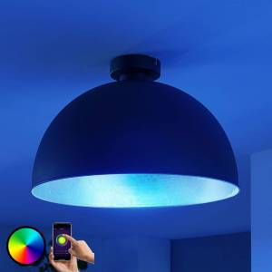 Lampenwelt.com Lindby Smart LED-loftlampe Bowl 41 cm sort