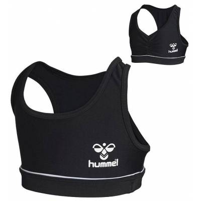 Hummel Bikini Top - Medine - UV50+ - Sort/Hvid - Børnetøj - Hummel