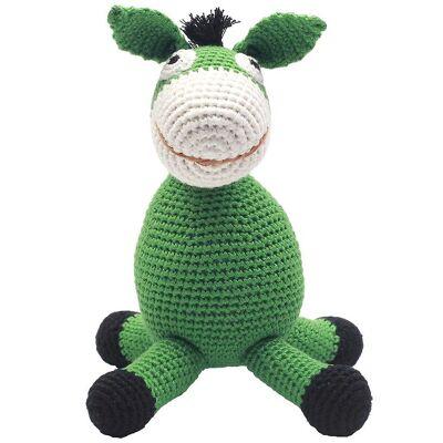 NatureZoo Bamse - Hr. Æsel - 24 cm - Grøn - Børnetøj - NatureZoo