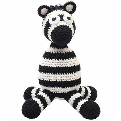 NatureZoo Bamse - Hr. Zebra - 24 cm - Sort/Hvid - Børnetøj - NatureZoo