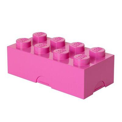 Lego Storage Madkasse - 8 Knopper - Pink - Børnetøj - Lego