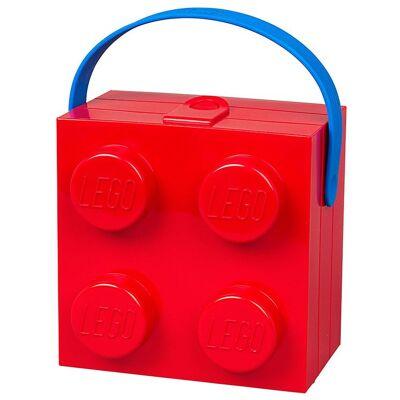 Lego Storage Madkasse m. Hank - 4 Knopper - Rød - Børnetøj - Lego