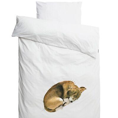 Snurk Sengetøj - Voksen - Hvid m. Hund - Børnetøj - SNURK